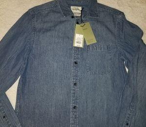 Denim long sleeve button up shirt